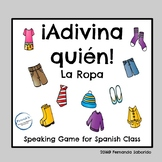 ¿Quién es? Spanish Speaking Game ~ la ropa #teachmorespanish