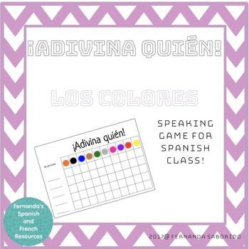 ¡Adivina quién! Spanish Speaking Game - los colores - colors