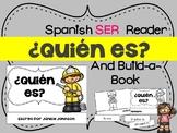¿Quién es? Spanish Verb Ser Professions Reader & Build-A-Book