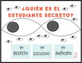 ¿Quién es el estudiante secreto? Secret Student Poster in Spanish