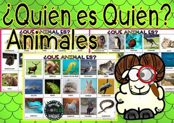 ¿Quién es quién? Who are you? Guess who / Adivina Quién Español Spanish Animales