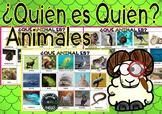 ¿Quién es quién? Animales Who are you? Guess who / Adivina Quién Español Spanish
