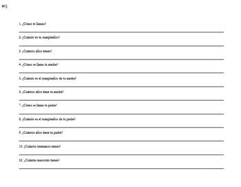 ¿Quién está en mi familia? - Student Family Tree project - Spanish 1 & 2