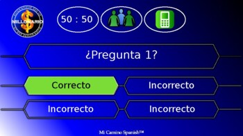¿Quien quiere ser un millonario? - FULLY CUSTOMIZABLE SPANISH GAME TEMPLATE!