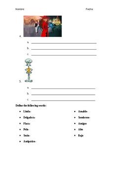¿Quién soy yo? - Spanish adjective practice