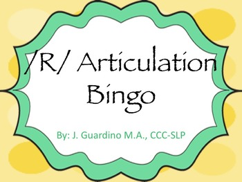 """R"" Articulation Bingo Games"