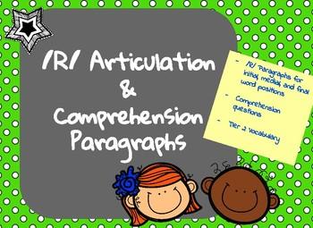 /R/ Articulation, Comprehension and Vocabulary Paragraphs