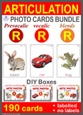 /R/ Articulation Photo Card Bundle: Prevocalic, Vocalic, Blends Speech Therapy