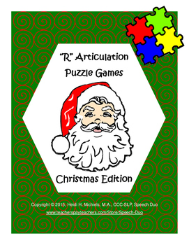 """R"" Articulation Puzzle Pack: Christmas Theme"