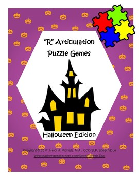 """R"" Articulation Puzzle Pack: Halloween Theme"