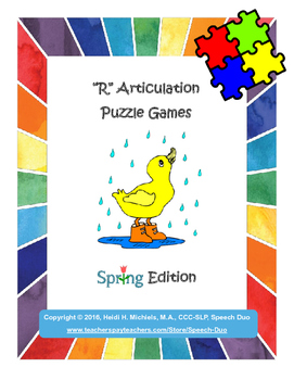 """""""R"""" Articulation Puzzle Pack: Spring Theme"""