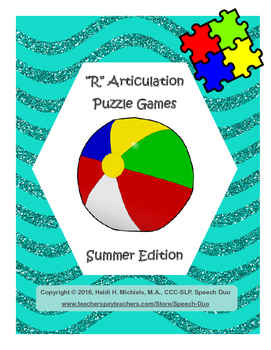 """R"" Articulation Puzzle Pack: Summer Theme"