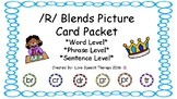 /R/ Blend Articulation Cards Packet with Word, Phrase, & Sentence Level Cues