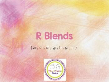 [R Blends] Beginning Consonant Blend Interactive Presentations & Activities