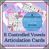 """""""R"""" Controlled Vowels - Articulation Cards with Visual Cues - Speech Therapy"""