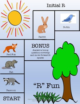 """""""R"""" Fun with Animals-Articulation Game Board"""