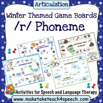 /R/ Phoneme - Winter Themed Game Boards
