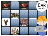 R Vocalic EAR - PowerPoint Memory Games - Articulation - Digital - Teletherapy