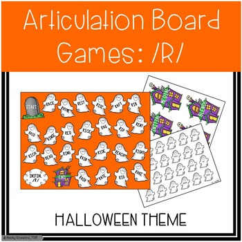/R/ and /R/-Blends Articulation Board Games - Halloween Theme