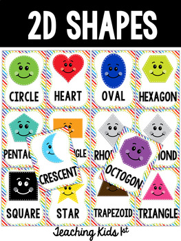 {RAINBOW} 2D & 3D Shapes and Color Posters