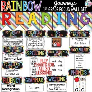 {RAINBOW} Journeys 1st Grade Focus Wall Set