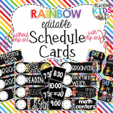 {RAINBOW} EDITABLE Class Schedule