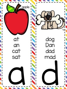 {RAINBOW} Journeys Kindergarten & 1st Grade Phonics Cards