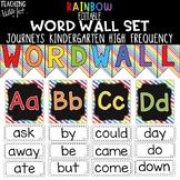 {RAINBOW} Journeys Kindergarten High Frequency Word Wall Set