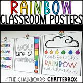 RAINBOW THEMED Inspirational Classroom Poster Set