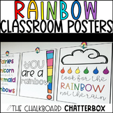 {RAINBOW THEMED} Inspirational Classroom Poster Set
