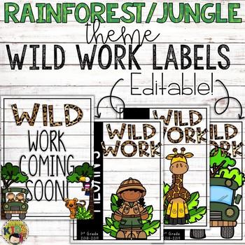 {RAINFOREST JUNGLE THEME} Wild Work Labels
