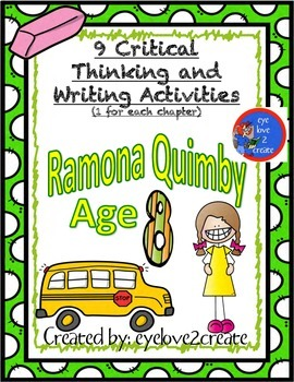 {RAMONA QUIMBY AGE 8} {CRITICAL THINKING AND WRITING ACTIVITIES}
