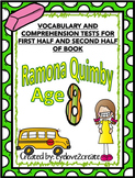 {RAMONA QUIMBY AGE 8 {VOCABULARY AND COMPREHENSION TESTS}