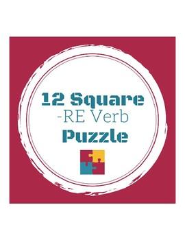 -RE Verb Puzzle