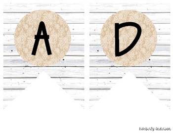 """READING"" White Wood / Shiplap and Burlap Lace: Focus Wall Pennant / Banner"