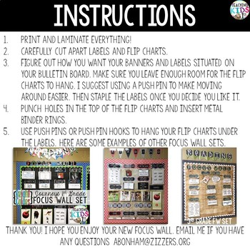 {RED and BLACK} Journeys 5th Grade Focus Wall Set  + Editable Posters