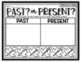 ***REGULAR VERBS PAST OR PRESENT TENSE CUT AND PASTE LEAF SORT***