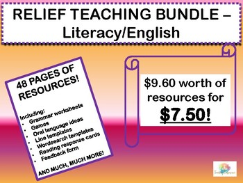 LITERACY ENGLISH RELIEF TEACHING BUNDLE