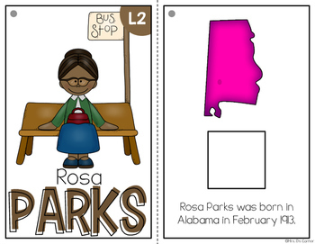 { Rosa Parks } Black History Month Adapted Book Set