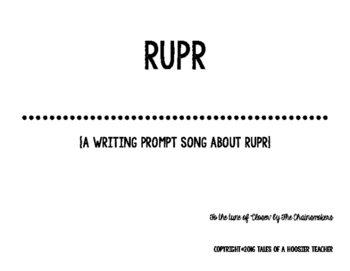 """""""RUPR"""" Writing Prompt Song (tune of Chainsmokers' """"Closer"""")"""