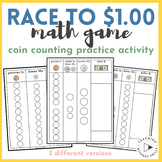|Race to $1.00| Place Value Math Center Game Trading Pennies, Dimes, & Dollars