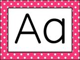 (Rainbow Polka-Dot Border) Alphabet Wall