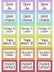 (Rainbow Polka-Dot Border) Behavior Clip Chart