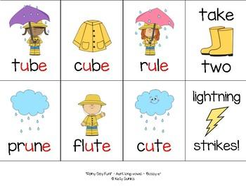 """Rainy Day Fun!""~ A Rain-Themed 'BOSSY E' Phonics Game for Spring or Rainy Days"