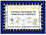 """Rainy Day Fun!"" ~ A Rain-Themed CONSONANT BLENDS Phonics Game for Spring"