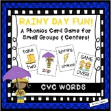 """Rainy Day Fun!"" ~ A Rain-Themed CVC Phonics Game for Spring (or rainy days!)"