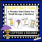 """Rainy Day Fun""~A Rain-Themed LETTER/SOUND Phonics Game for Spring or Rainy Days"