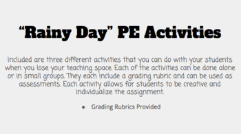 """Rainy Day"" PE Activities"