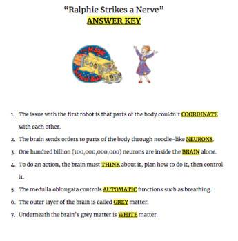 """Ralphie Strikes a Nerve"" Video Questions for Magic School Bus Rides Again"