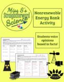 """""""Rank the Nonrenewable Energy"""" Activity"""